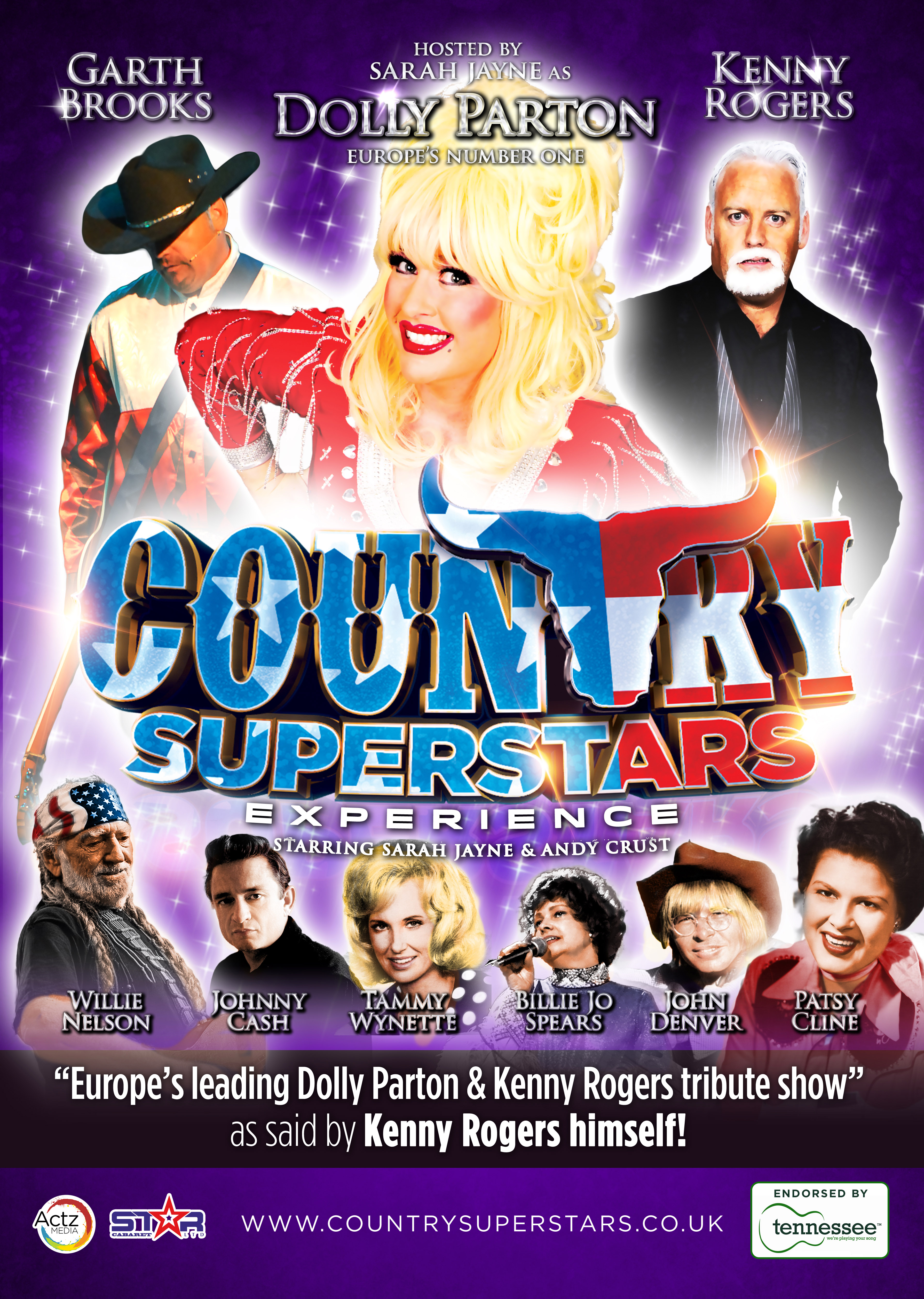 From Kent to the West End – You can expect rhinestones, cowboy boots, lachrymose ballads and Country Superstars aplenty at the Leas Cliff Hall Theatre on the 24th July.