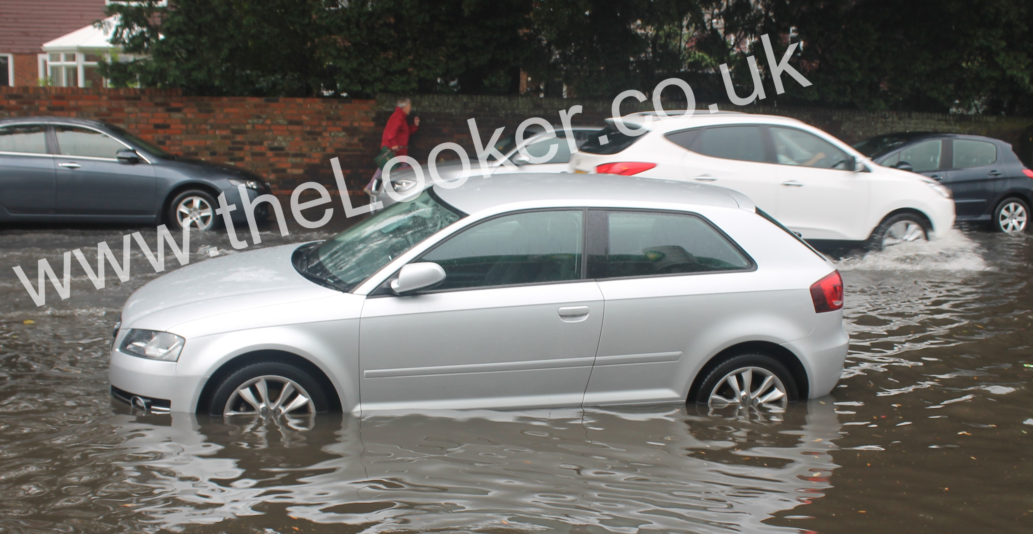 Motorist pay the price for driving through flood water