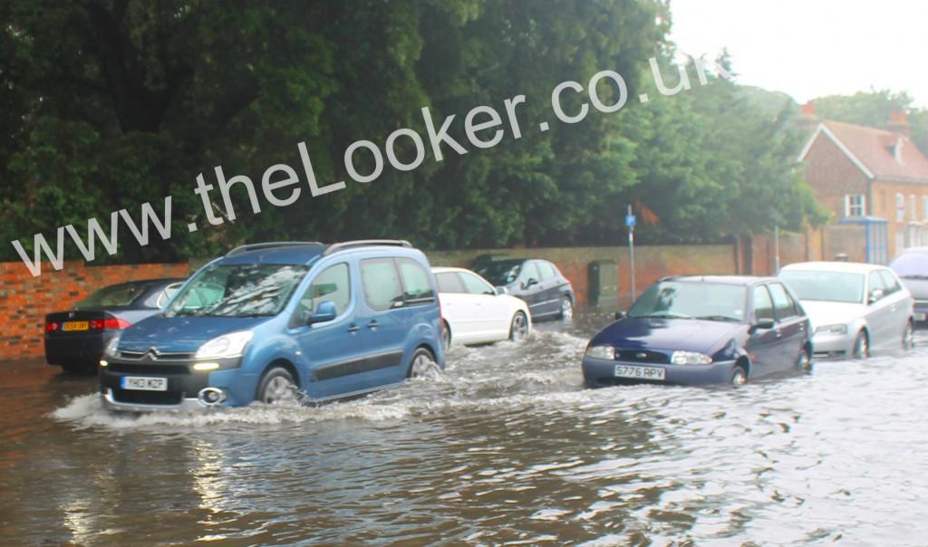 New Romney High Street Flooded