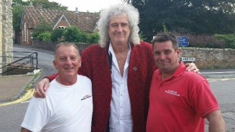 brian may in new romney on 17th August 2015