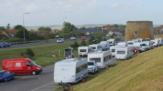 travellers at Dymchurch