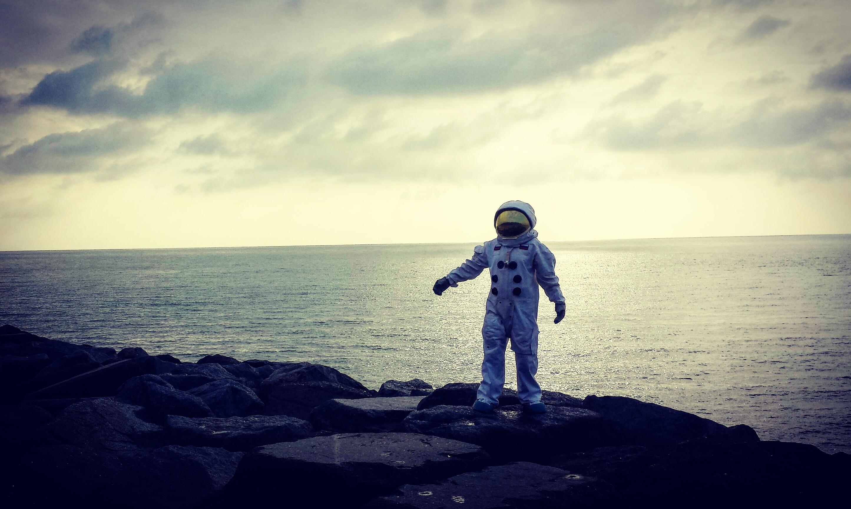 Astronaut seen on the Marsh