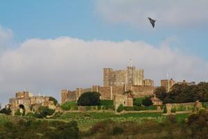 Vulcan over Dover Castle