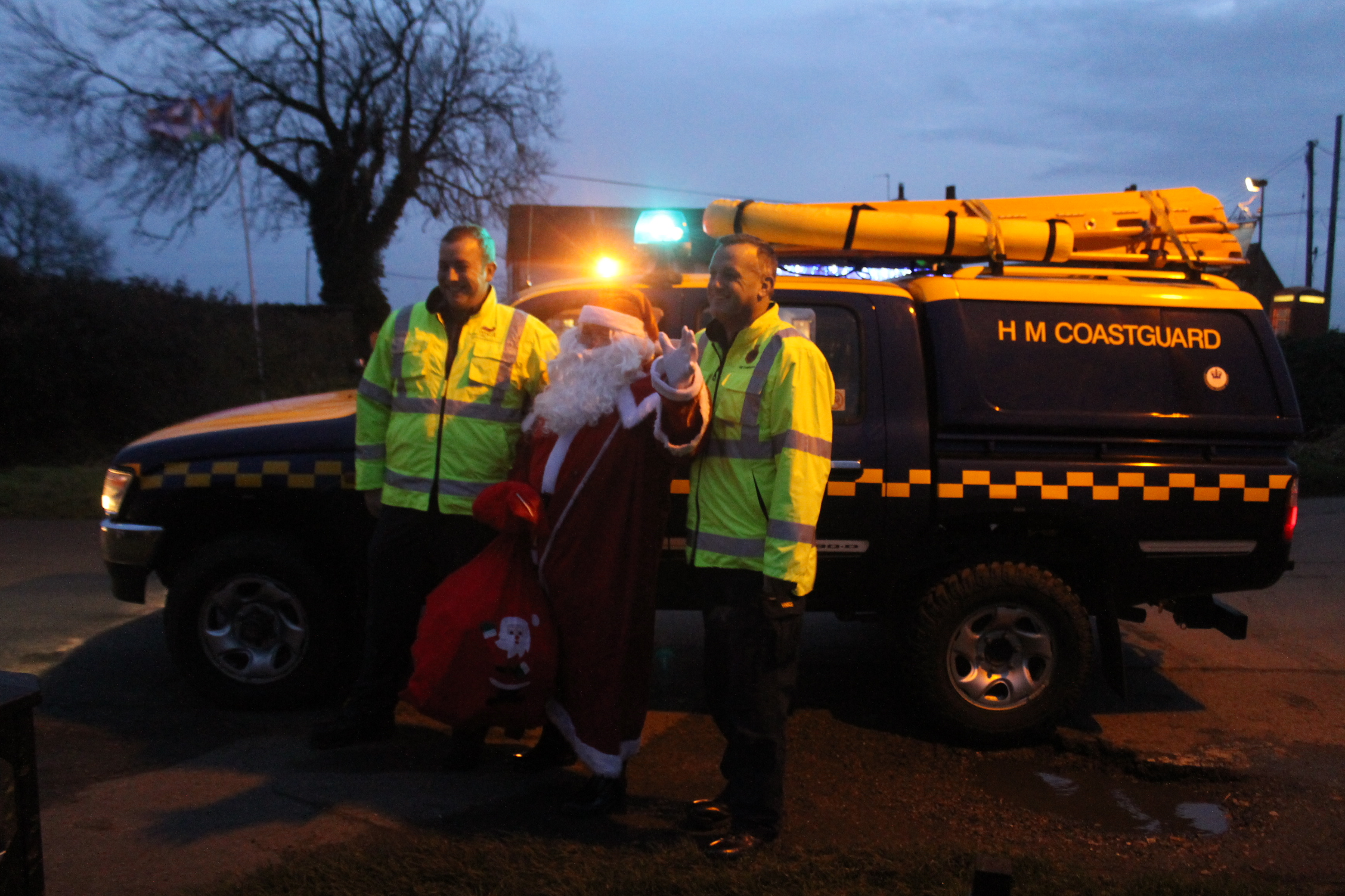 Local Coastguard Rescue Santa