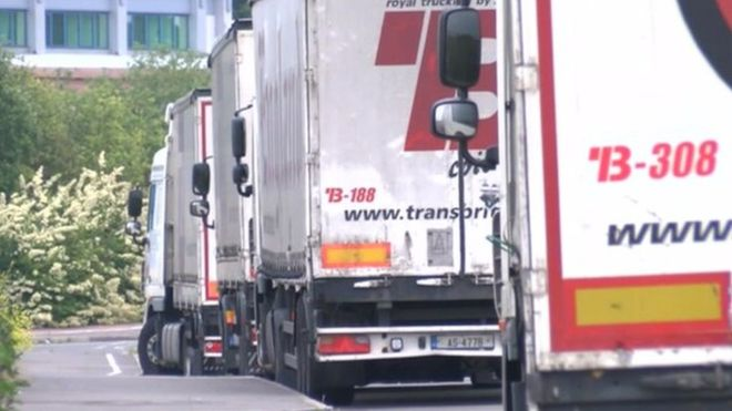 LORRY PARKING MISERY RUMBLES ON