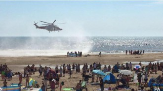 three helicopters including the Air Ambulance  took part in the rescue