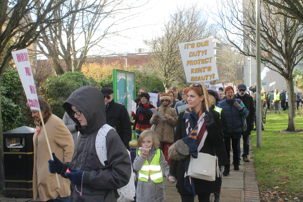 Over 300 people protest over council plans