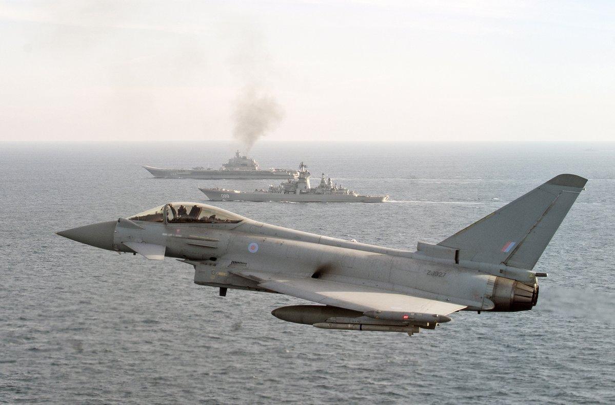Russian warship Admiral Kuznetsov 'skulks' past Britain's coast through English Channel escorted by Royal Navy and RAF