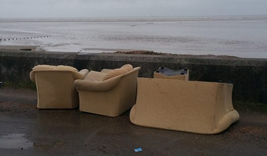 Fly -tipping is back on the Marsh