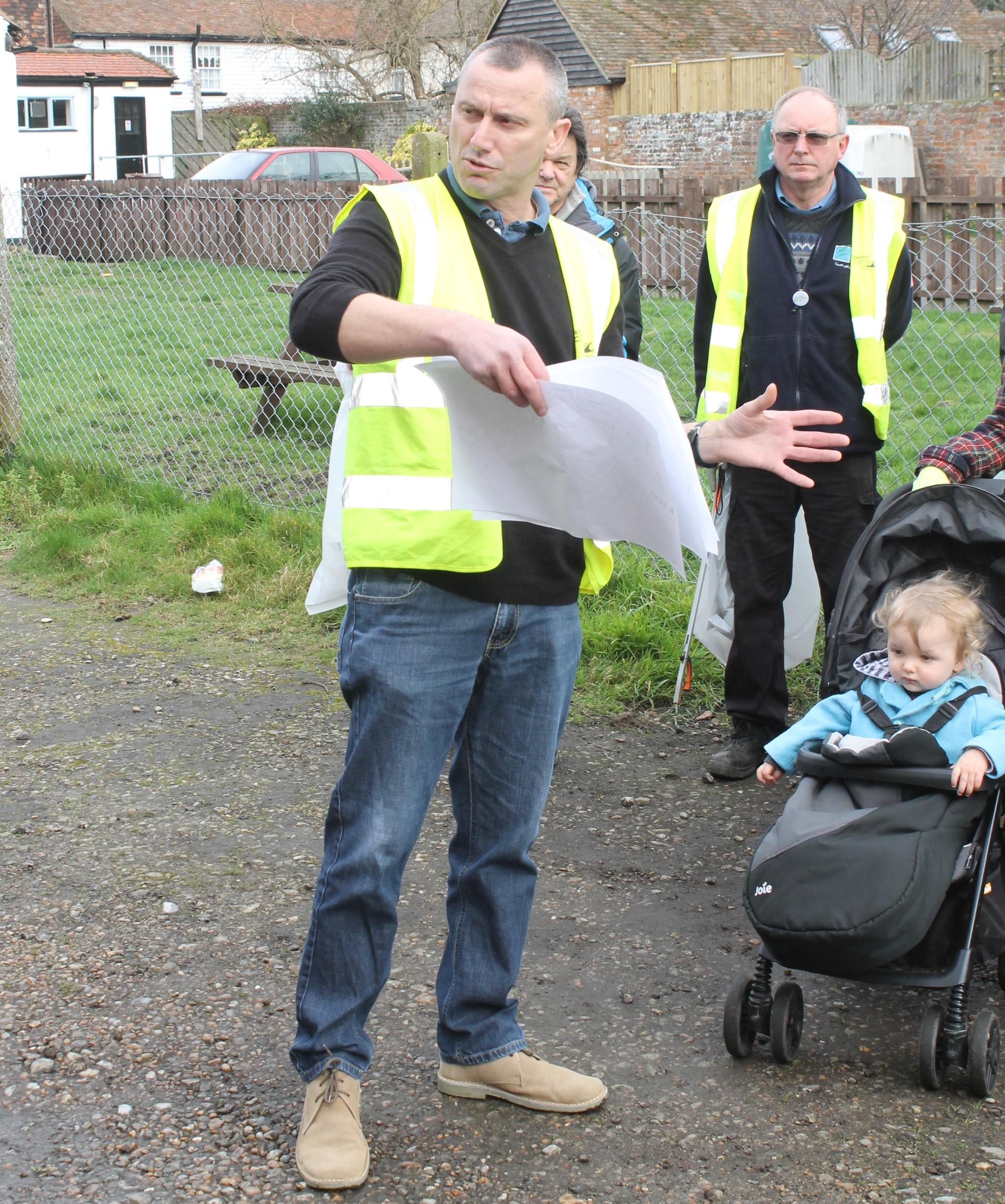 organiser Clive Goddard...Talks Rubbish