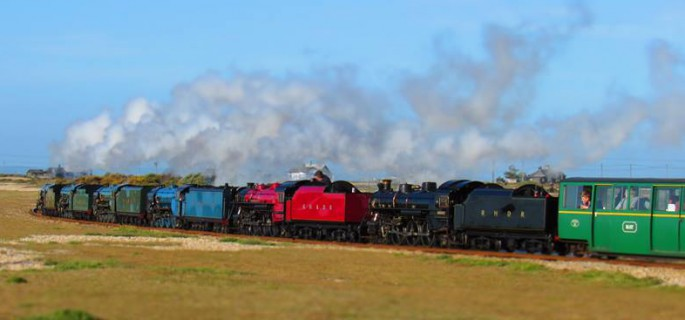 6 engine special train
