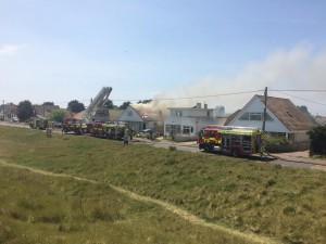 Fire At Greatstone Photo Dean Miller