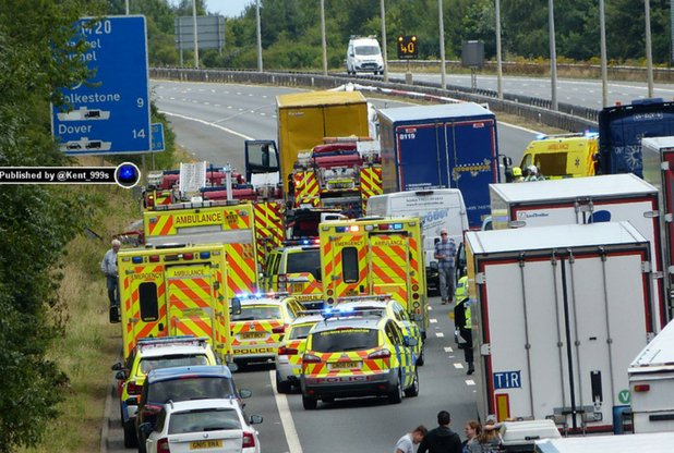 Witness appeal following M20 collision at Junction 11