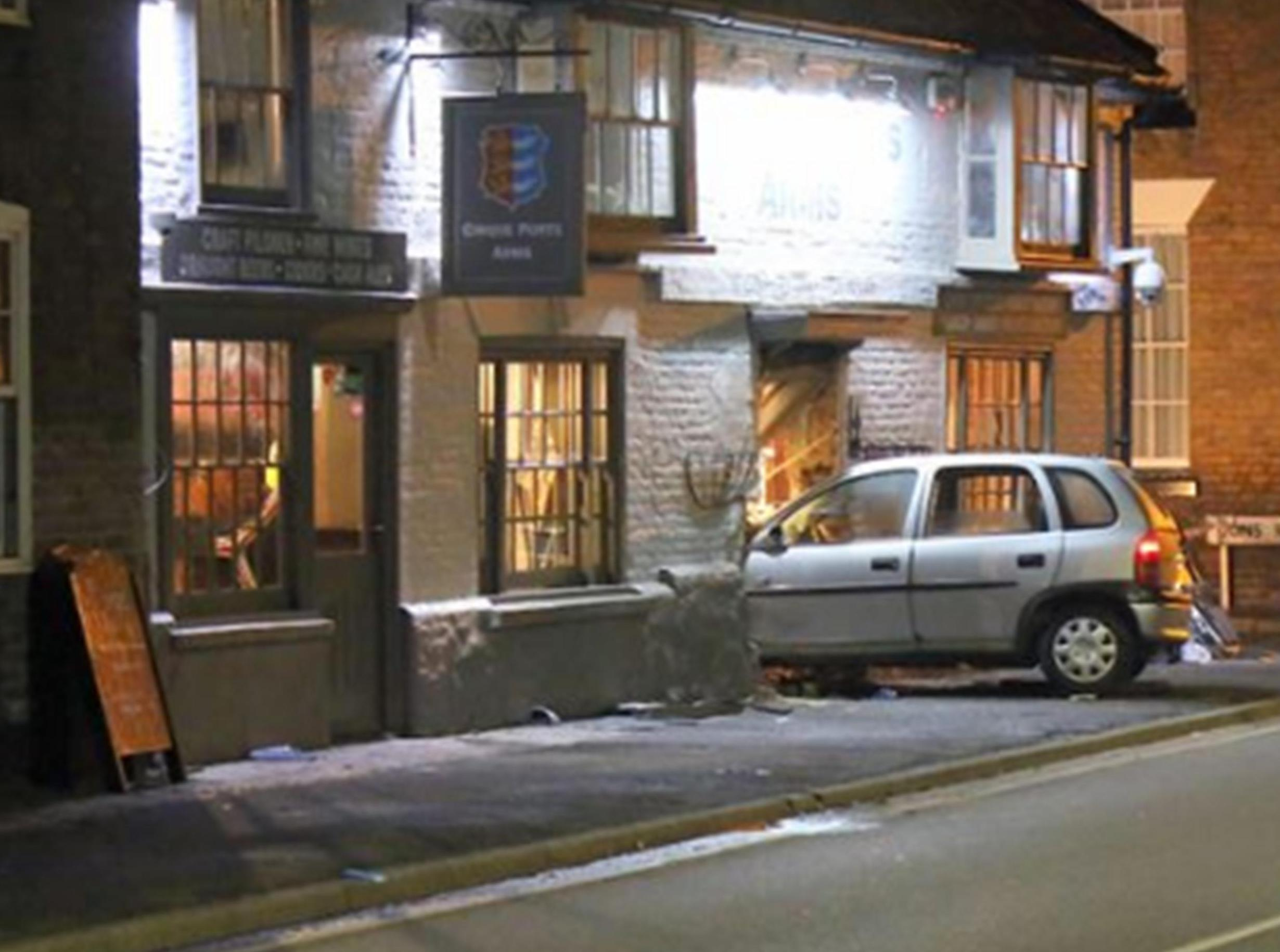 Update :Business as usual despite car crashing into historic Marsh pub