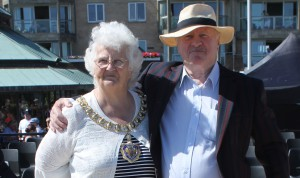 Ann Berry and David Monk (the Chairman and Leader of the District Council)