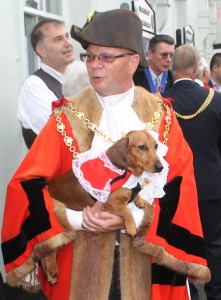 the Mayor and Sergio the Cinque ports Hound