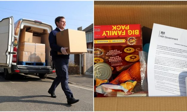Government hampers to be delivered to 50,000 people this week as every part of the country is placed on 'emergency footing'