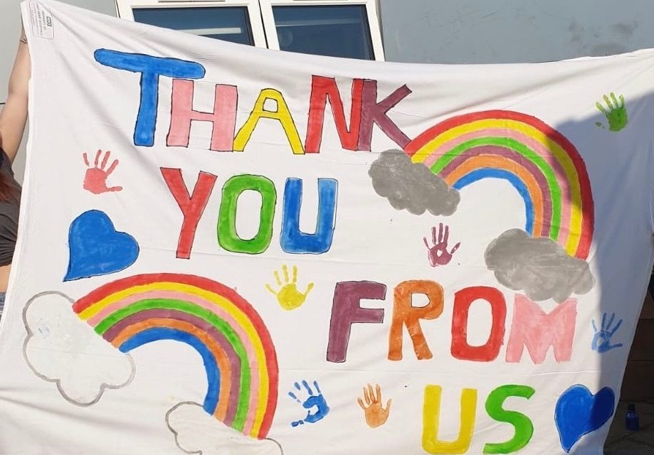 Hospital staff thank community for support